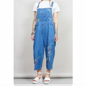 Vintage Agapo Embroidered Overalls